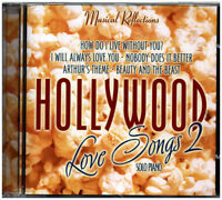 HOLLYWOOD LOVE SONGS 2 MUSIC CD,Romantic Movie Love Songs on SOLO PIANO