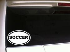 "Soccer car decal vinyl window sticker 6""*E9 mom sports athlete player fan laptop"