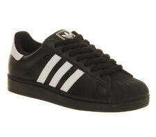 adidas Superstar 2 Trainers Leather Black White Mens Sports Fashion G17067 UK 10
