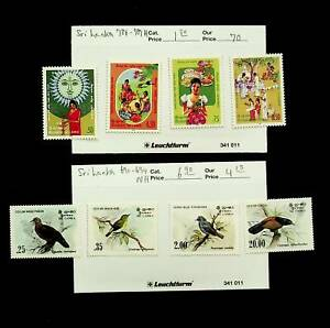 SRI LANKA FESTIVAL BIRDS 8v MNH + MH STAMPS