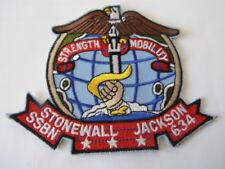 US NAVY PATCH  STONEWALL JACKSON SSBN 634 SOUS-MARIN USA