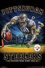 754f7288829 Pittsburgh Steelers STEELERS PRIDE SINCE 1933 End Zone TD Dive NFL Art  POSTER