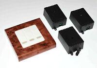 "Kit telecomando a parete ""radica"" a 3 canali 3CH + 3 interruttori 220V 10A"