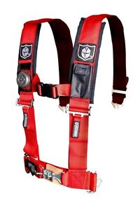 """Pro Armor Seat Belt Harness 5 Point 2"""" Red Arctic Cat Textron Prowler Wildcat"""
