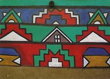 Afrika: Ansichtskarte: Ndebele-Hausmuster Südafrika