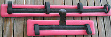 Miniature Mini Horse Donkey Harness Driving Pads Cart Carriage Pink Waffle