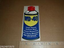 Vintage 1980s WD-40 libricant Original drag racing tool box new Decal Sticker