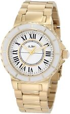 A_line Women's AL-20015 Marina White Dial Gold Ion-Plated Stainless Steel Watch