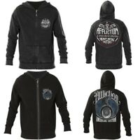 AFFLICTION Mens Hoodie Sweat Shirt ZIP UP Jacket REVERSIBLE High Speed $98