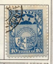 Latvia 1921-33 Early Issue Fine Used 10R. 182325