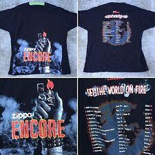 Zippo Encore Set The World On Fire Tour T-Shirt XL