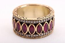 Sultan! Turkish Handmade Jewelry Ruby Topaz 925 Sterling Silver Ring Size 7