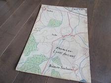 GRAND PLAN MANUSCRIT 1890 SORBEY AUBE DAIN EN SAULNOIS MOSELLE