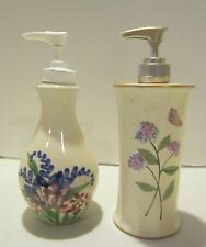 Vintage Emerson Creek Pottery & Beth Yarbrough hand painted dispenser bottles EC