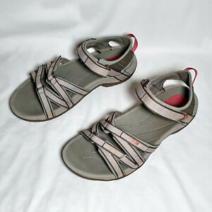 Teva Tirra 4266 Women's Sport Gray w/ Pink Sandals Water Hiking Adjustable US 10