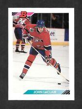 1992-93  BOWMAN HOCKEY , # 8 , JOHN LeCLAIR , MONTREAL CANADIENS