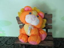 "Vintage 1993 Fisher-Price Puffalumps Jungle Juniors Lion Cub 9"" Orange Plush Toy"