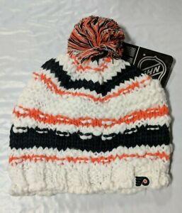 Philadelphia Flyers Knit Beanie Toque Winter Hat Skull Cap - NHL Women's White