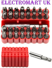 33PC SCREWDRIVER SECURITY BIT SET TAMPERPROOF HEX KEY SPANNER TORX TRI-WING
