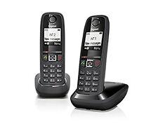 Siemens Gigaset AS405 Duo analog schnurlos Telefon schwarz