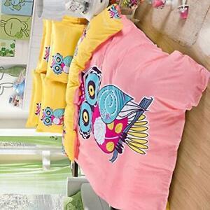 Sandyshow 3PC Owl Bedding For Boys And Girls Full/Queen Microfiber Duvet Cover S