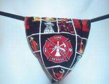 New Sexy Mens FIREMAN Equipment Ax Helmet Gstring Thong Underwear Male Lingerie
