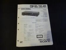 ORIGINALI service manual Sony cdp-195/295/491