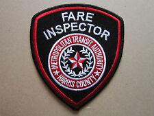 Fare Inspector Harris County MTA Transit American Cloth Patch Badge (L2K)