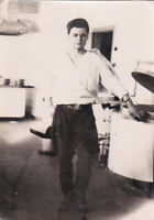 1960s Handsome young man soldier recruit guy cook Russian Soviet photo gay int