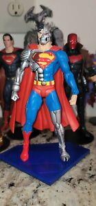dc direct COLLECTIBLES DEATH OF SUPERMAN RETURNS SERIES CYBORG SUPERMAN FIGURE