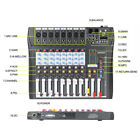 ammoon 8 Channel Digtal Mic Line Audio Mixer Mixing Console For Live Studio US