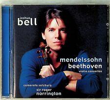 Mendelssohn/Beethoven: Violin Concertos, Joshua Bell CD -Roger Norrington