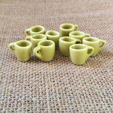 Casa de muñecas en miniatura Amarillo Cerámica Glaseada pequeña Olla