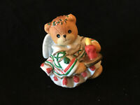 Lucy & Me Christmas Angel Bear With Candle Enesco Lucy Rigg 1994