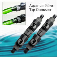 12-22mm Aquarium Filter Hose Tubing Double Tap Connector Control Flow Valve
