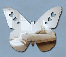 Silver Butterfly MIRROR Safe Shatterproof Mirror Acrylic 25 x 18cm *new*