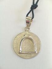 Ciondolo con STAFFA in ARGENTO 925 - pendente con girocollo- equitazione cavallo