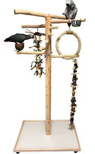 Freisitz für Papageien/Vögel aus Buchenholz Papageienspielzeug mit Wendeltreppe