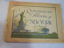 Rotogravure Album of New York 1920's Rotoprint Gravure Guide book Antique