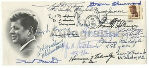 U.S. Senators 1967 - Authentic Autographed JFK First Day Cover - Signed by 14
