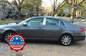 fit:2005-2012 Toyota Avalon 6Pc Chrome Pillar Post Stainless Trim Door Cover