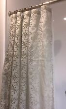 FABRIC SEMI-SHEER SHOWER CURTAIN Smoke Blue Floral Famous Home 72x72