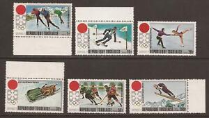 TOGO 1971 SG839/844 Winter Games, Sapporo, Japan MNH (JB15712)