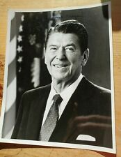Ronald Reagan Signed Photo - Black and White