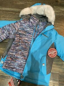 ZeroXposur Girls System Jacket 3 In 1 All Season 4/5 NWT $110 COLOR-CYAN