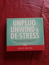 Joyce Meyer Unplug Unwind & De-Stress ( 4 CD Series) Excellent condition.