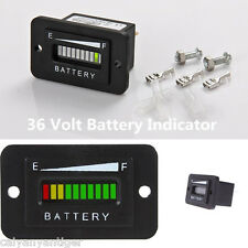 36 Volt For EZGO ClubCar Yamaha Golf Cart Acid Battery Indicator Led Meter Gauge