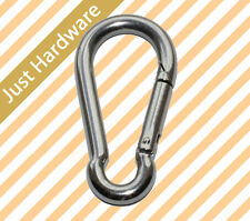 316 STAINLESS STEEL Snap Hook Clip Camping Climbing Lock Carabiner 5 6 8 10 mm