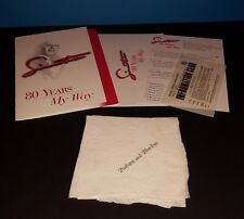 FRANK SINATRA 80TH BIRTHDAY CELEBRATION GALA INVITE & PERSONALIZED NAPKIN ++++