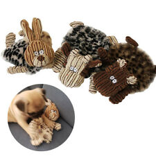 Unstuffed Large Plush Puppy Dog Pet Squeaker Toys Funny Squeaky Sound Play Toy